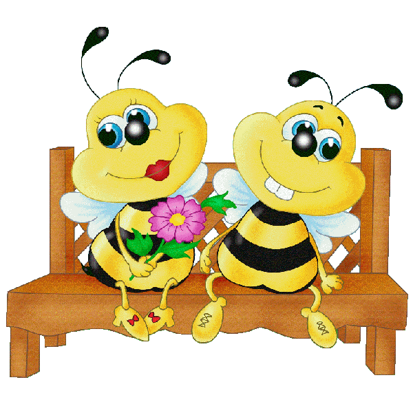 Bee on apple blossom clipart banner free download Valentine Love Bees - Honey Bee Free Images | Bees | Pinterest | Bee ... banner free download