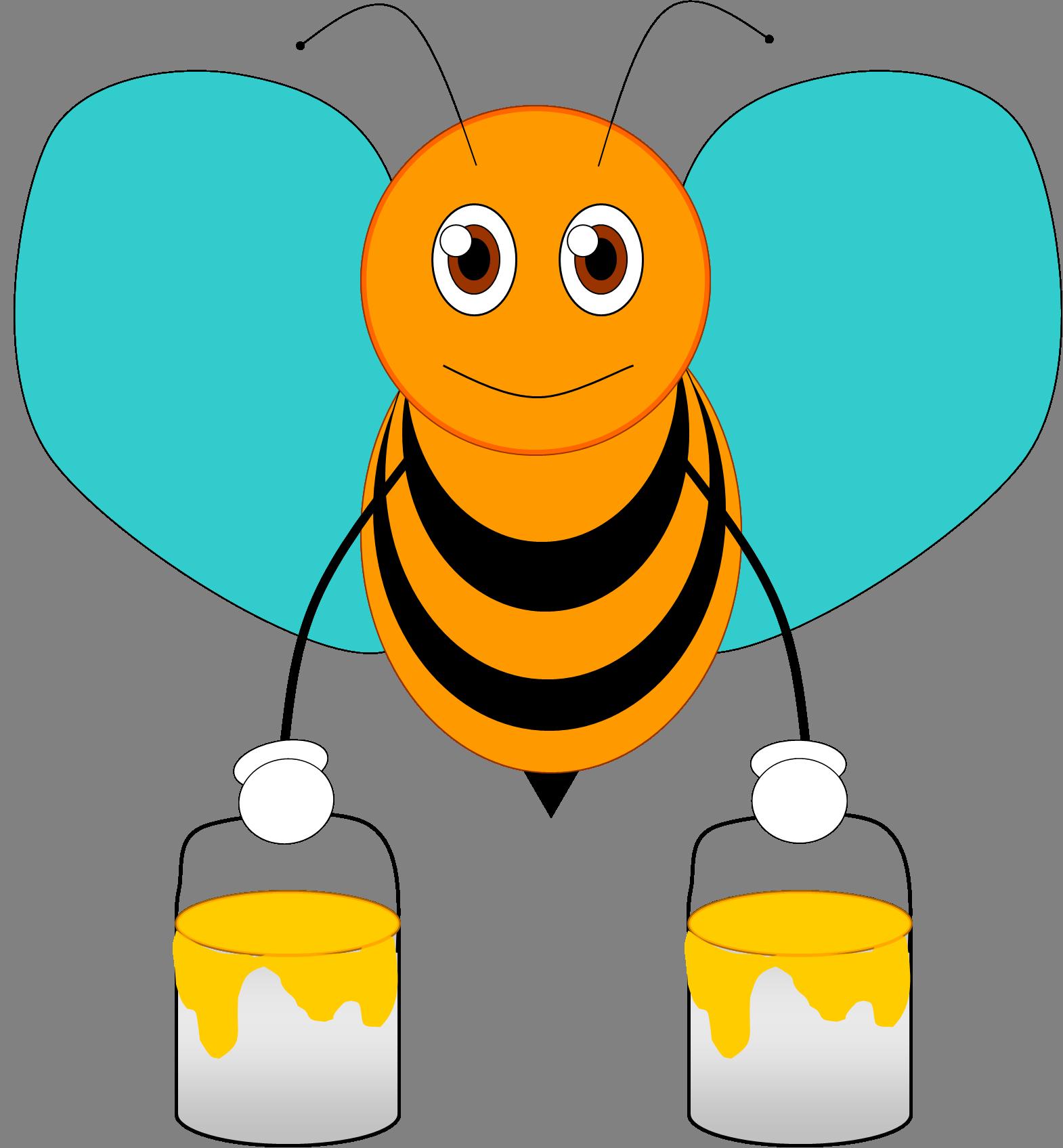 Flower bee clipart vector library stock BORBOLETAS & JOANINHAS | насекомые | Pinterest | Bee clipart, Bees ... vector library stock