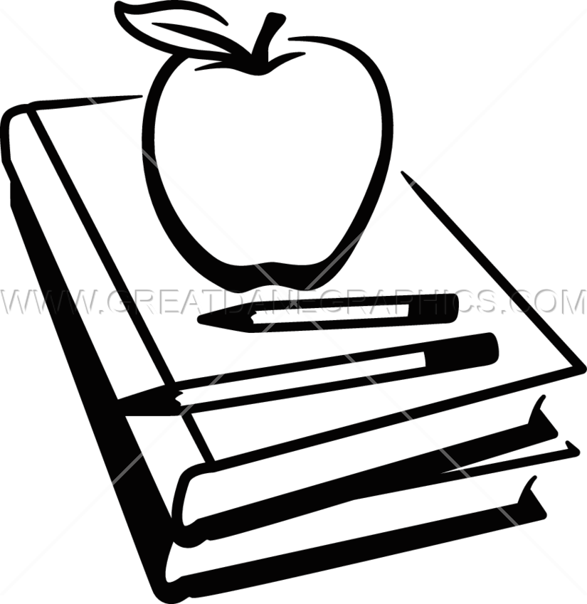Apple and book clipart black and white clip black and white download School Books Clipart Black And White   Free download best School ... clip black and white download