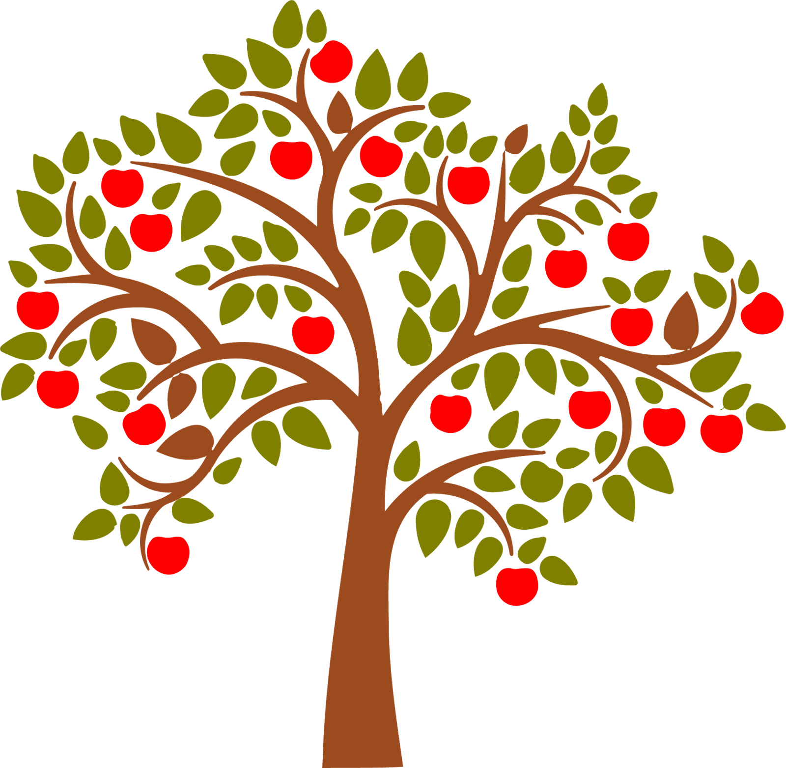 Apple and fall leaf clipart svg stock Apple Malus sylvestris Tree Clip art - Apple Tree Cartoon 1600*1563 ... svg stock