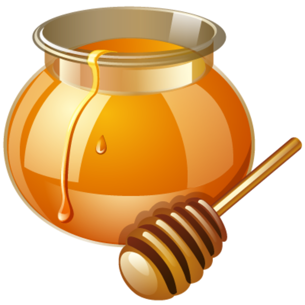 Apple in honey clipart image stock Skin – Good Food and the City image stock