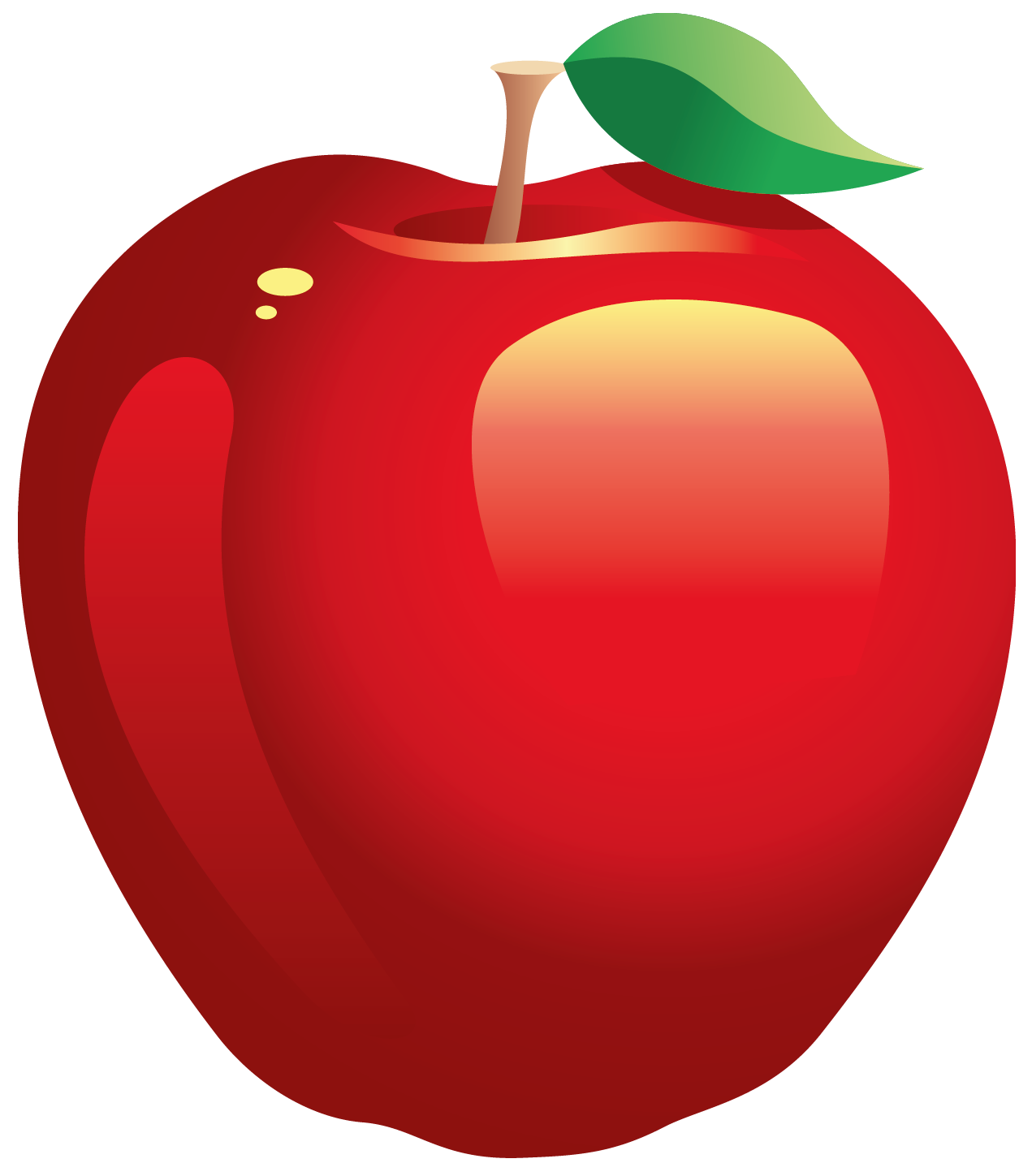 Apple with splatter paint clipart