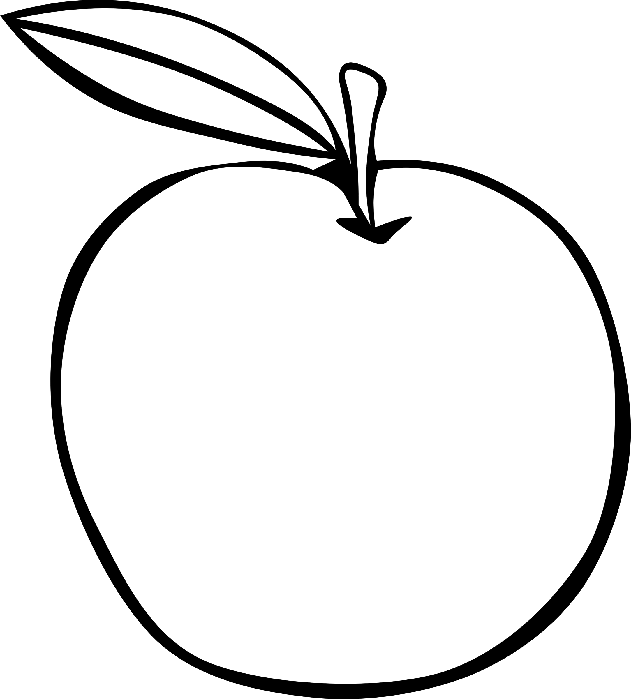 Simple apple clipart image black and white Pictures: Drawing Of A Simple Apple, - Drawings Art Gallery image black and white