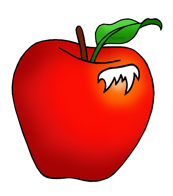 Apple in honey clipart image black and white United States Clip Art by Phillip Martin, Minnesota State Fruit ... image black and white