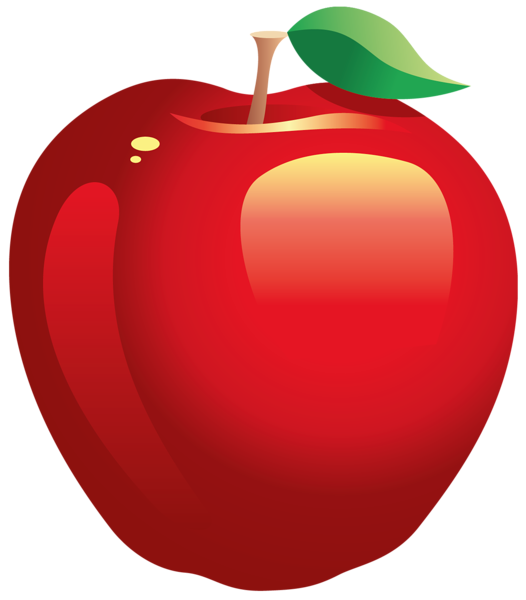 Cut apple clipart picture freeuse library Large Painted Red Apple PNG Clipart | PNG Frames/ Borders/Clipart ... picture freeuse library
