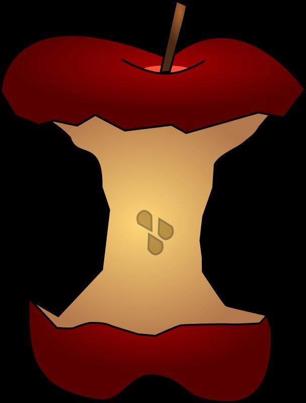 Cartoon clipart apple seeds jpg free stock Clipart - Apple Core w/ Seeds jpg free stock
