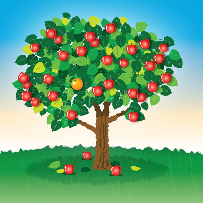 Apple and orange tree clipart jpg library stock Free Orange Tree Cartoon, Download Free Clip Art, Free Clip Art on ... jpg library stock