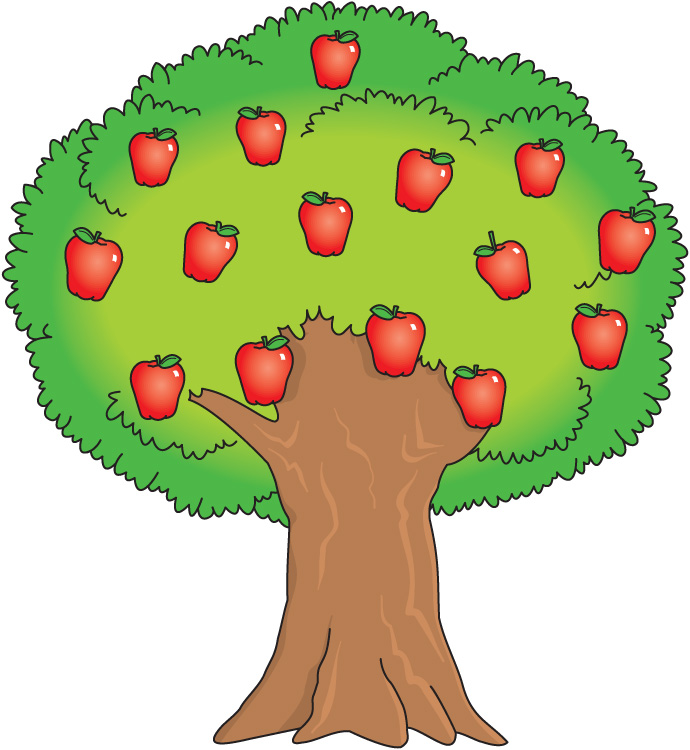 Apple and orange tree clipart picture library library Orange Tree Clipart - Clip Art Library picture library library