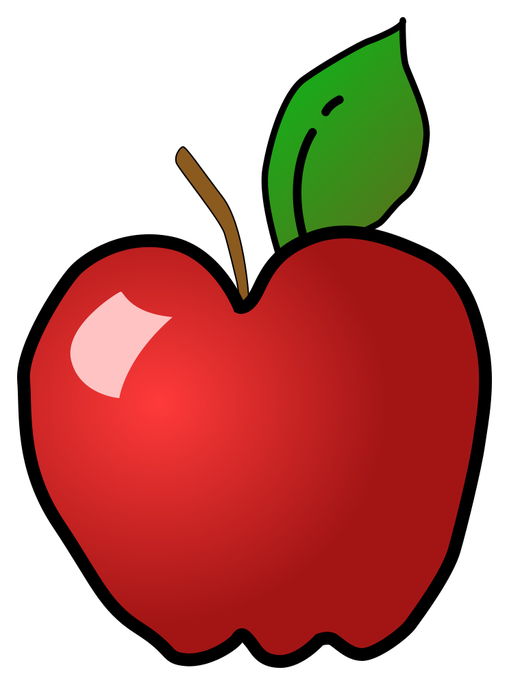 Apple and pear clipart svg freeuse download OnlineLabels Clip Art - Polished Apple svg freeuse download