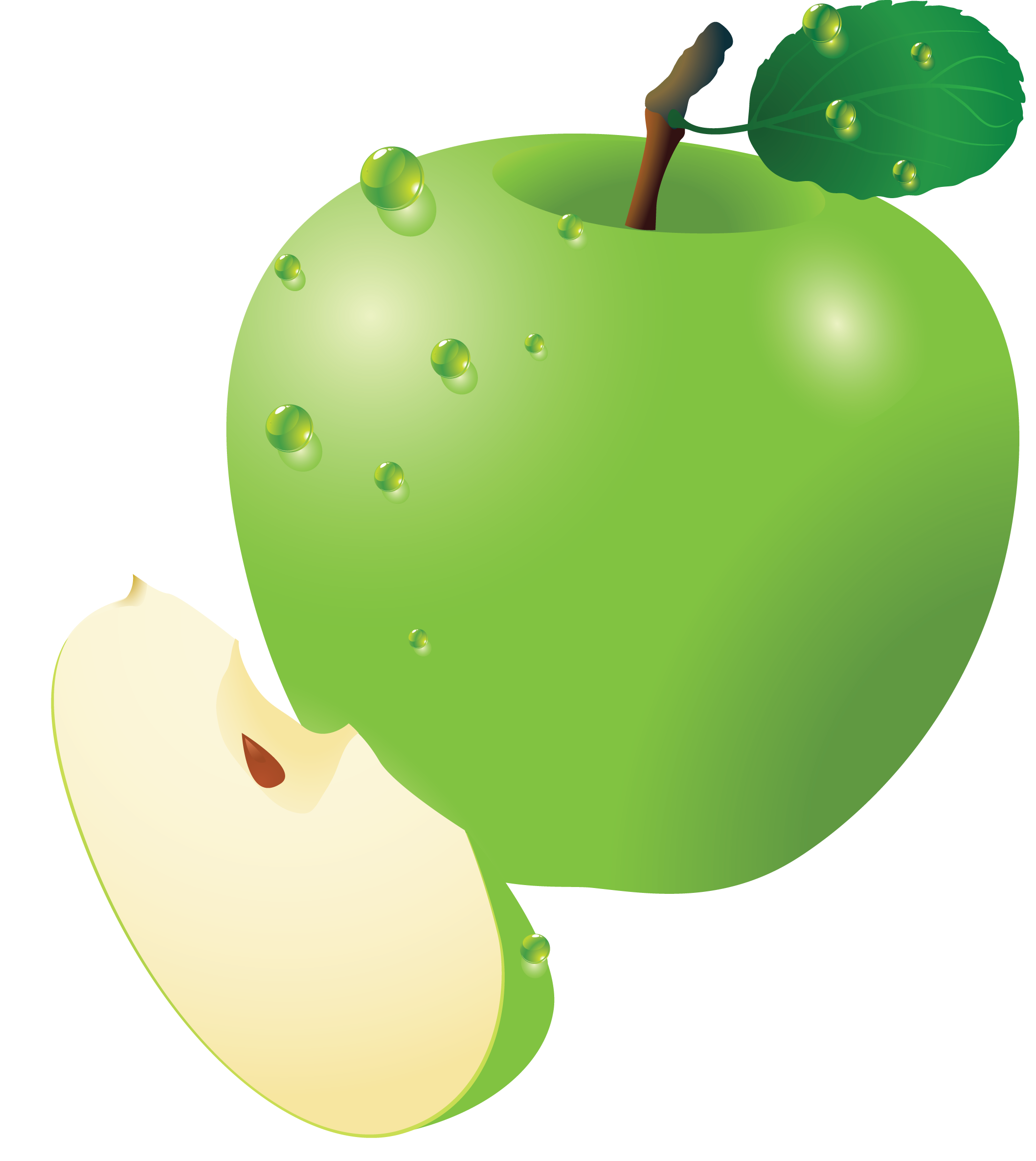 Apple slice clipart vector library Clipart Apple PNG Image - PurePNG | Free transparent CC0 PNG Image ... vector library