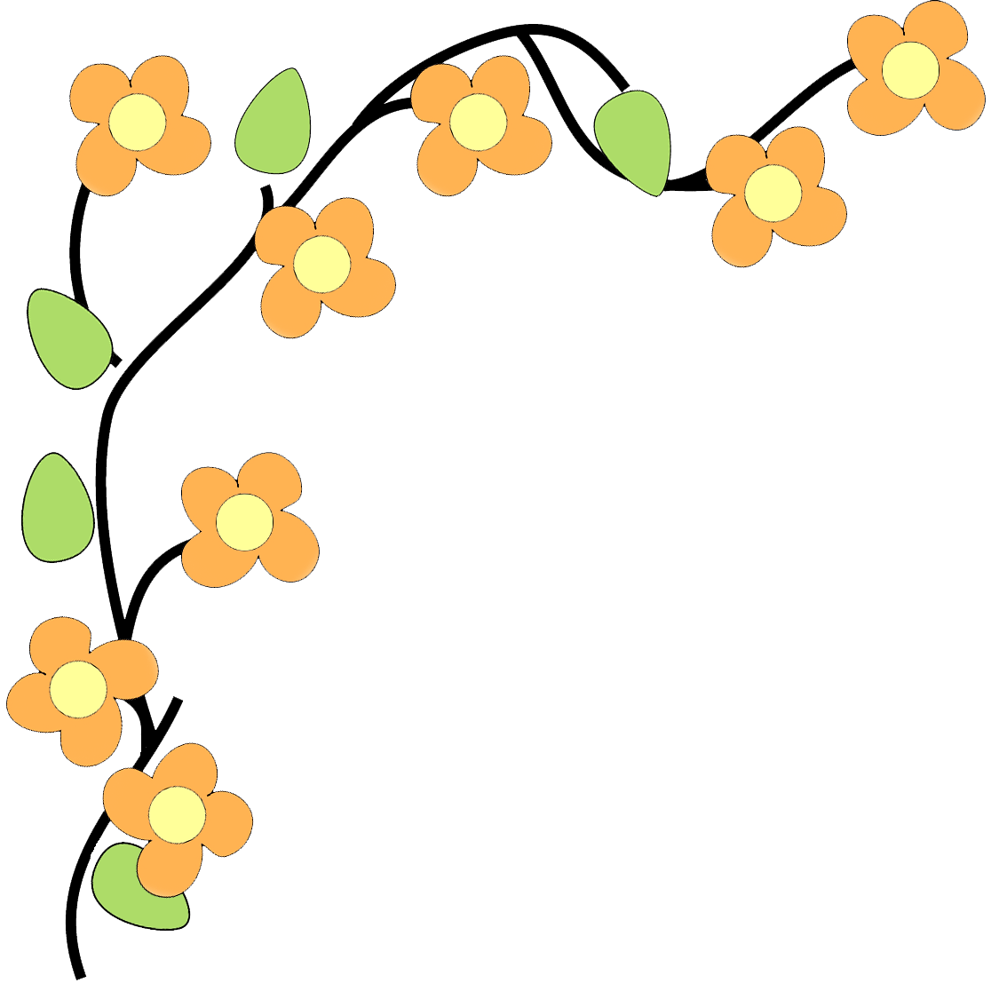 Flower border clipart. Kid flowers pinterest fun