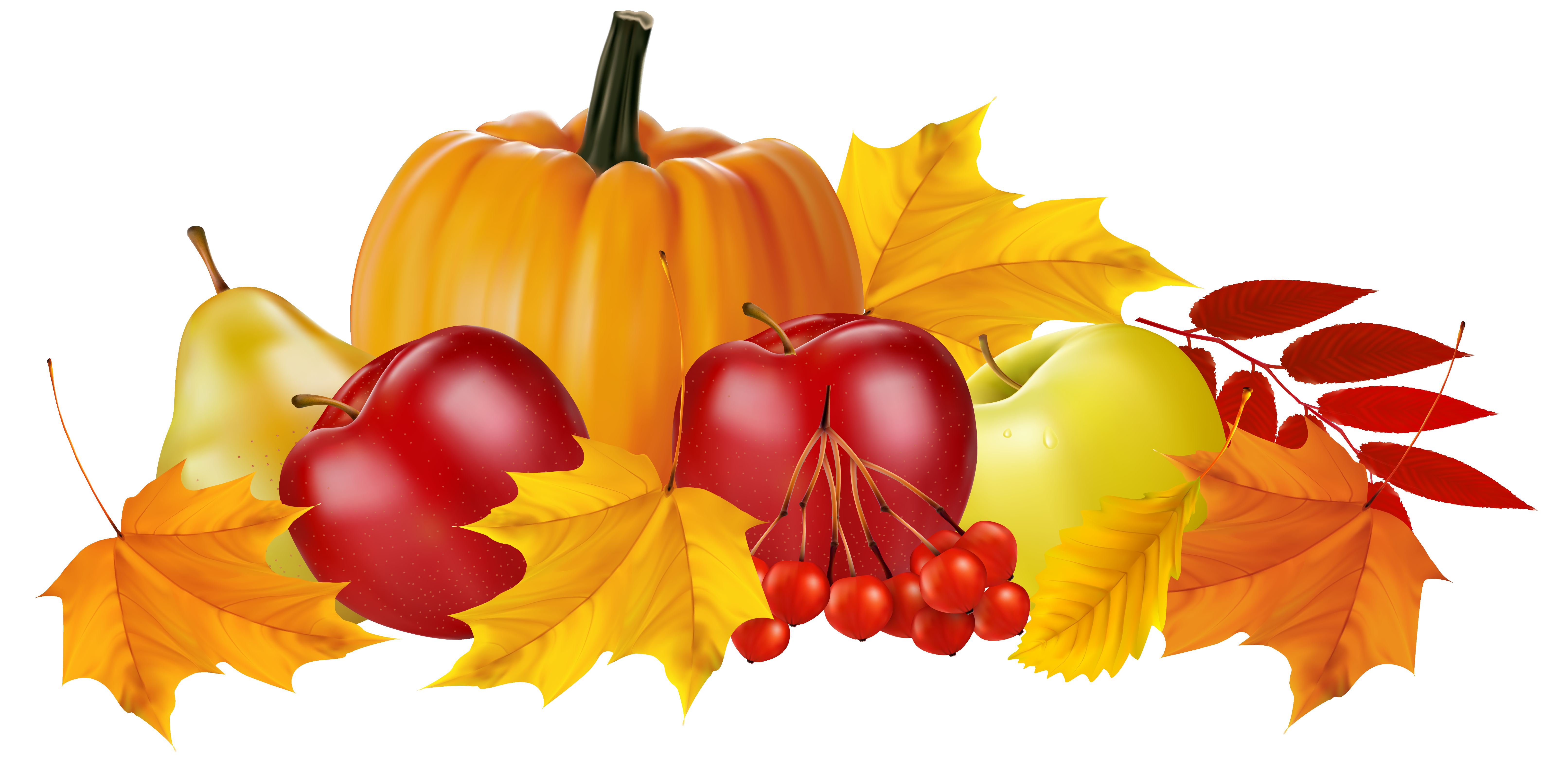 Apple and pumpkin page border clipart clip black and white download Autumn Pumpkin and Fruits PNG Clipart Image | Fall | Pinterest ... clip black and white download