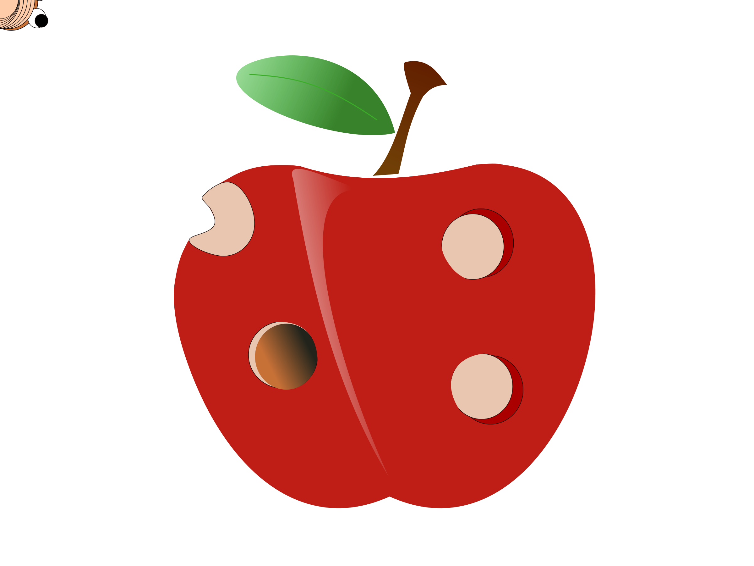 Apple in a worm clipart jpg royalty free stock Clipart - Animation Creepy Worm jpg royalty free stock