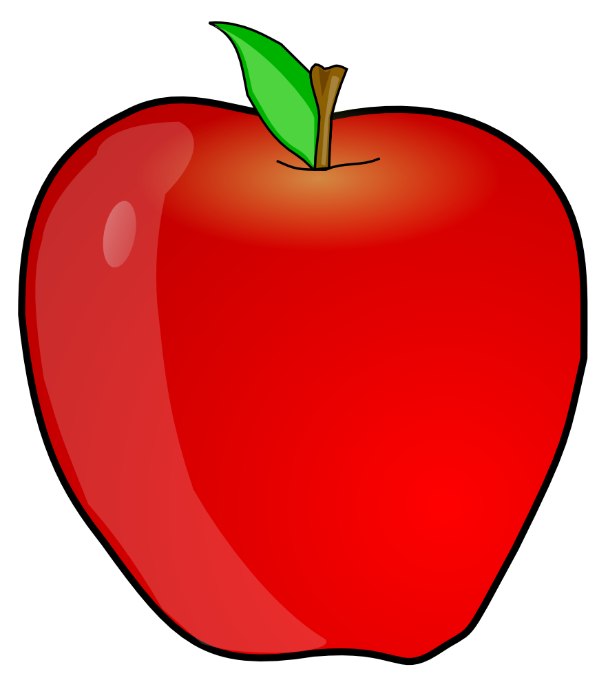 Clipart images of apple