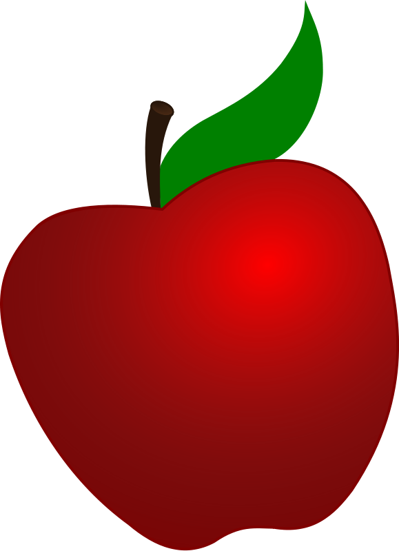 Simple apple clipart graphic download Clipart apple - ClipartFest graphic download