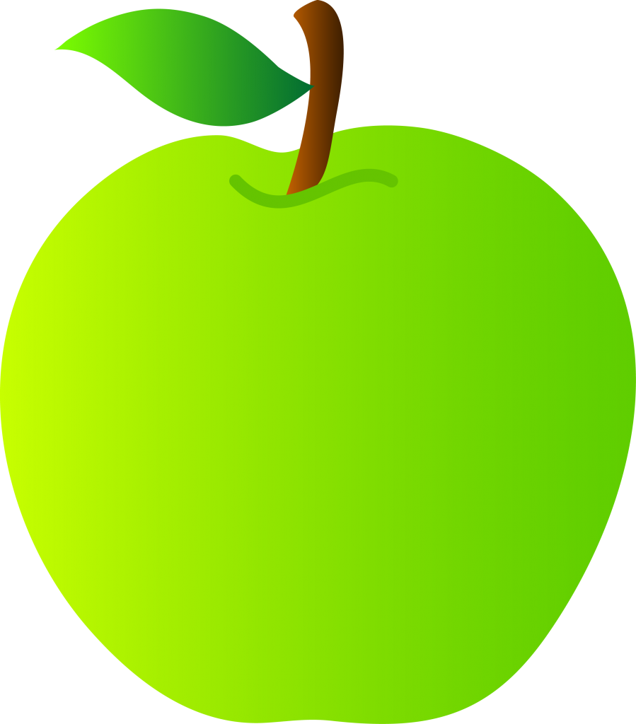 Apple with worm clipart vector library 28+ Collection of Green Apple Clipart Free | High quality, free ... vector library