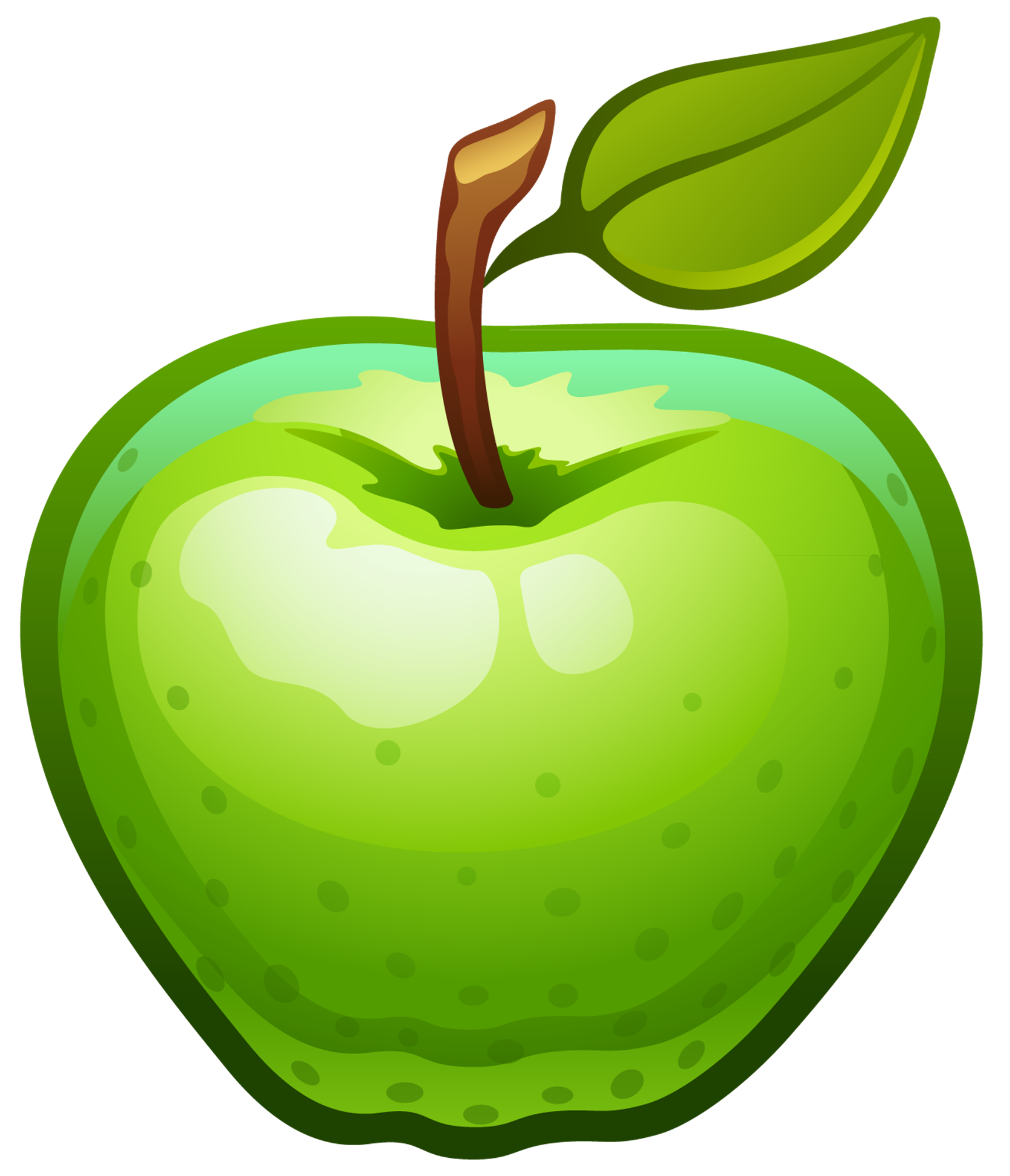 Apple clipart transparent background png stock Large Painted Green Apple PNG Clipart | Gallery Yopriceville - High ... png stock