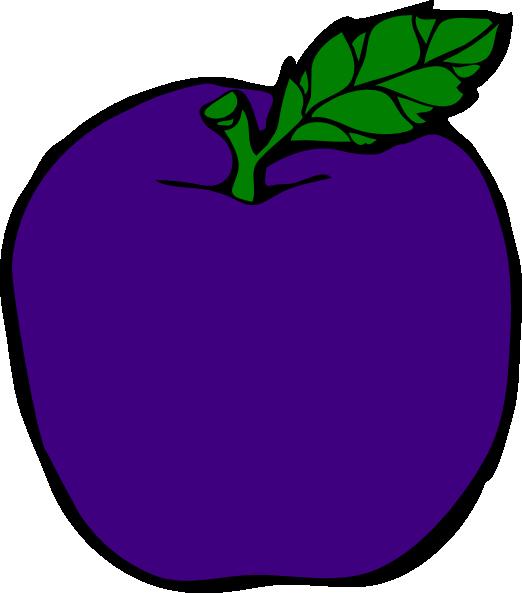 Apple clipart vector jpg library stock Purple Apple Clip Art at Clker.com - vector clip art online, royalty ... jpg library stock