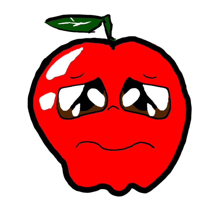 Clipart sad apple jpg free download Sad Apple by SADPLZ on DeviantArt jpg free download