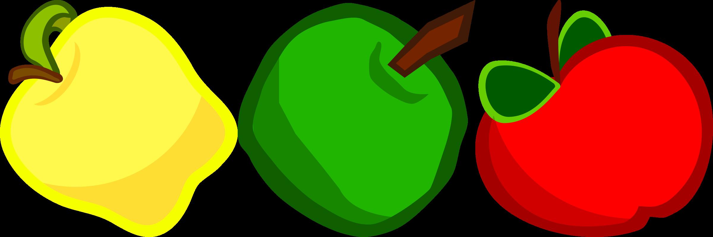 Apple banner clipart clip art download Clipart - Three Cartoony Apples clip art download