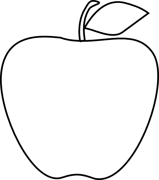 Apple clipart black and white outline picture download Apple Clipart | jokingart.com picture download