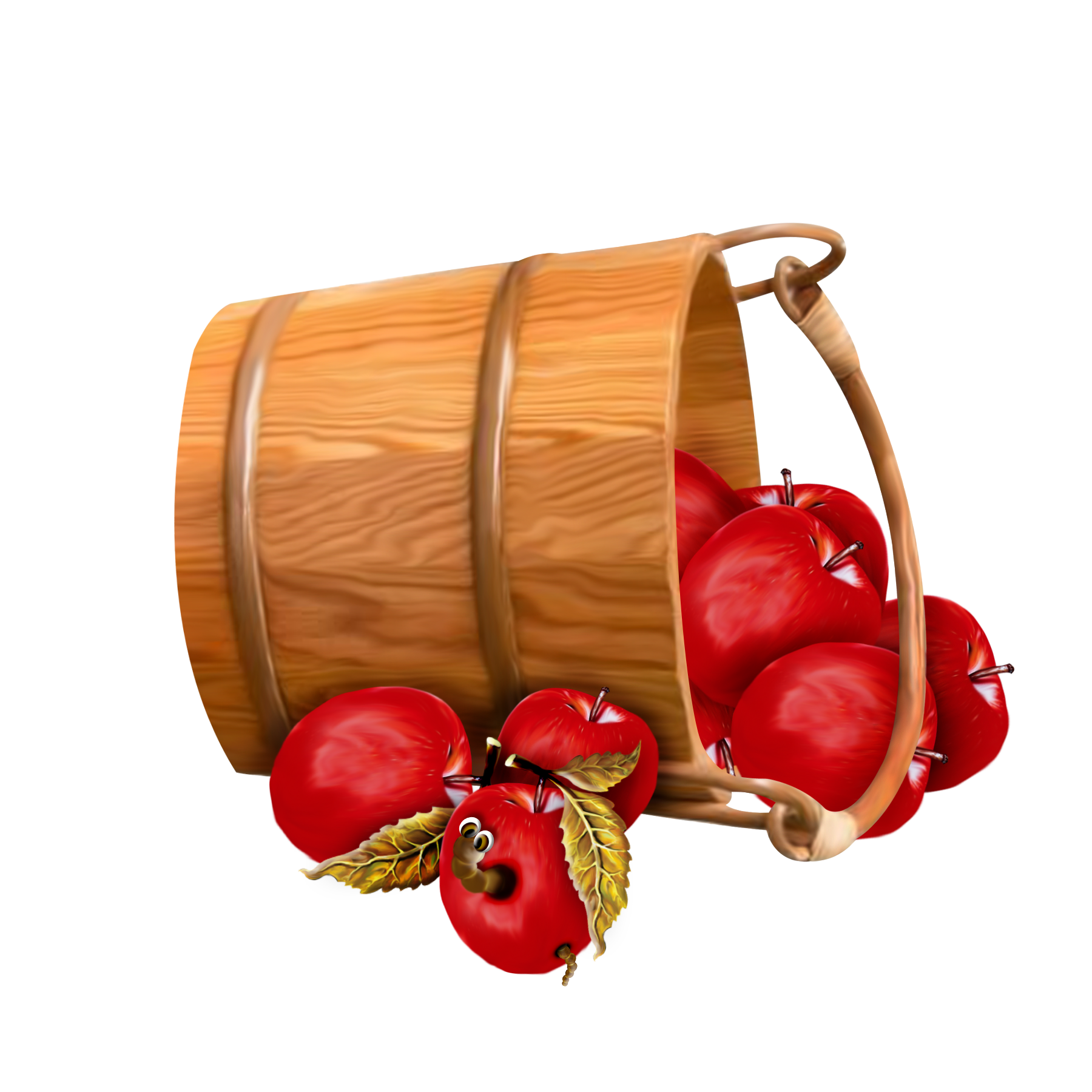 Apple barrel transparent clipart banner Bucket with Apples Transparent Clipart | Gallery Yopriceville ... banner