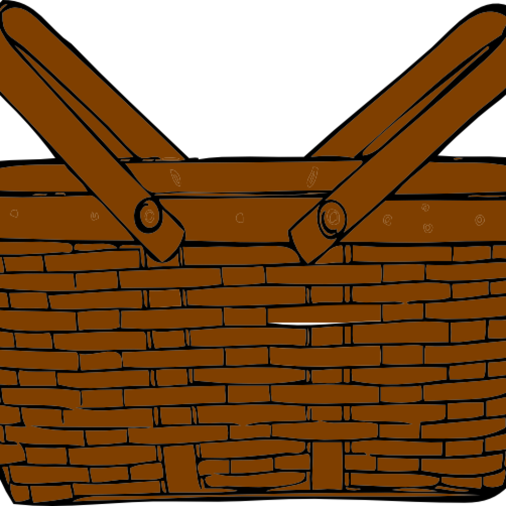 Free apple basket clipart