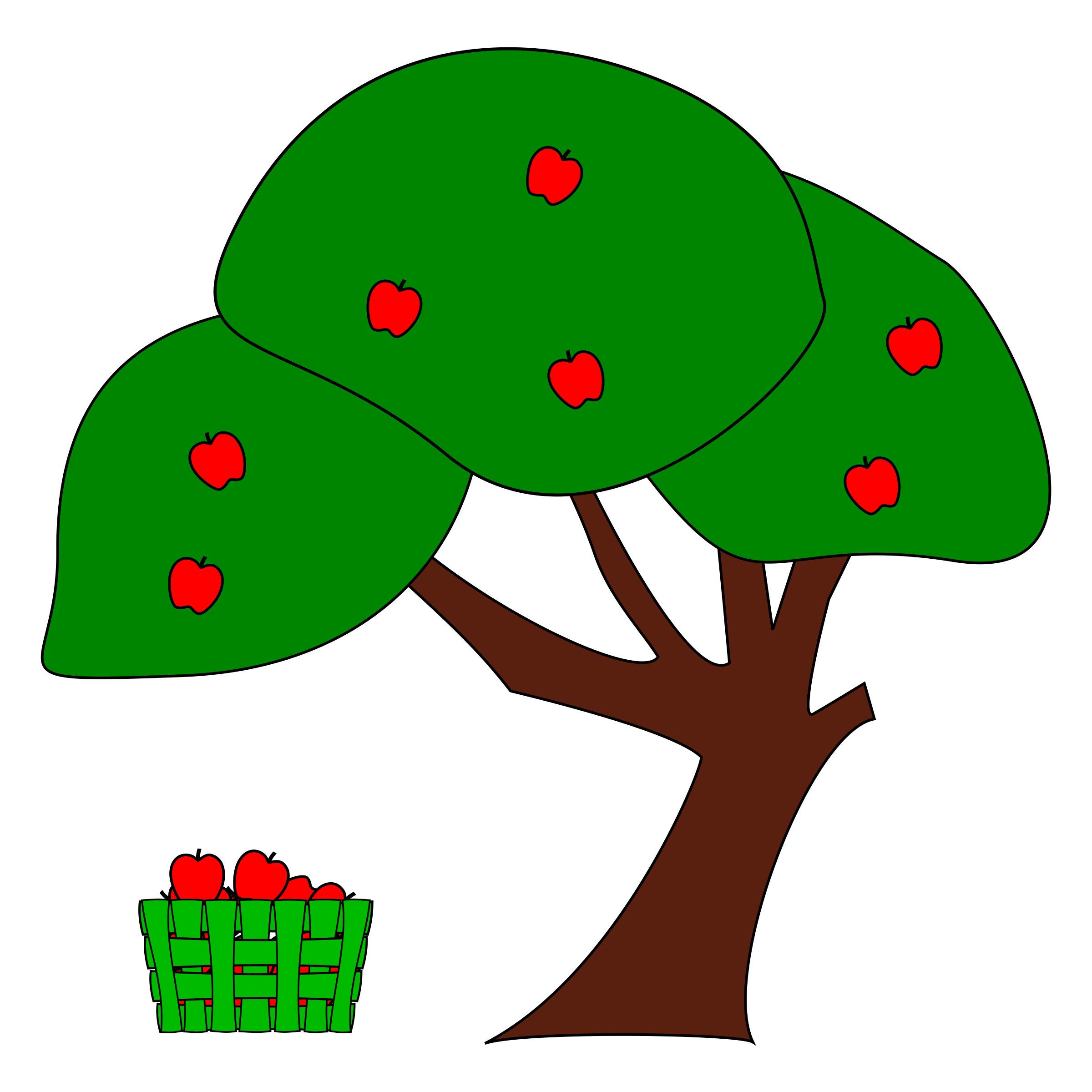 Fall apple trees clipart clipart free Clipart - Apple Tree clipart free