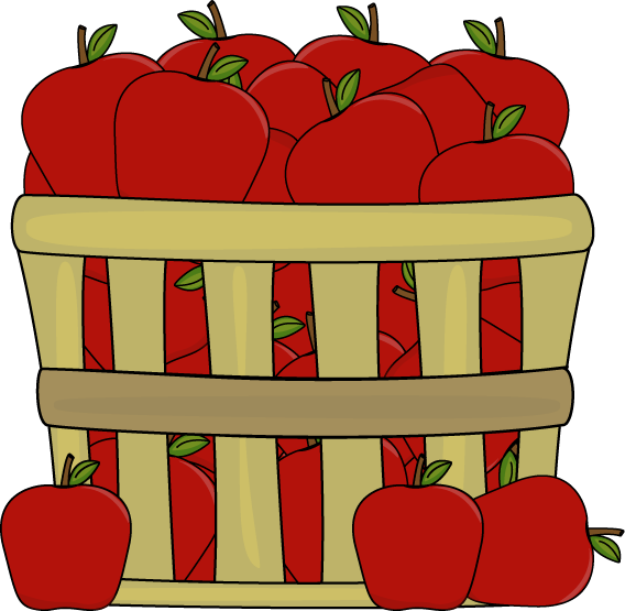 Free apple basket clipart transparent library Apple Basket Clipart | Letters Format transparent library