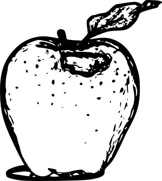 Custard apple clipart black and white picture free stock Line Drawing Of Apple at GetDrawings.com | Free for personal use ... picture free stock
