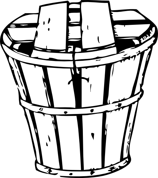 Book bin clipart black and white stock Empty Apple Basket Clipart | Clipart Panda - Free Clipart Images black and white stock