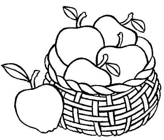 Apple basket clipart coloring page svg library library Basket of Apples Coloring Page | Clipart Panda - Free Clipart Images svg library library
