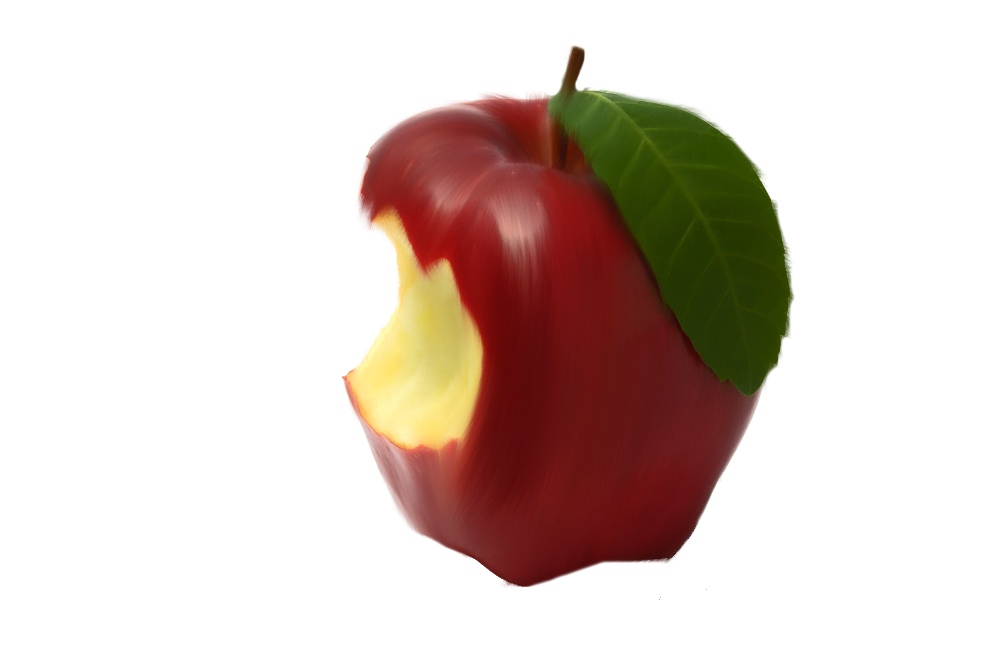 Apple with bite out of it clipart clip art transparent library Bitten Apple Png by Moonglowlilly.deviantart.com on @deviantART ... clip art transparent library