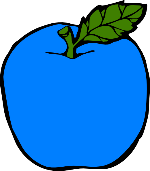 Apple clipart with face graphic transparent library Blue Apple Clip Art at Clker.com - vector clip art online, royalty ... graphic transparent library