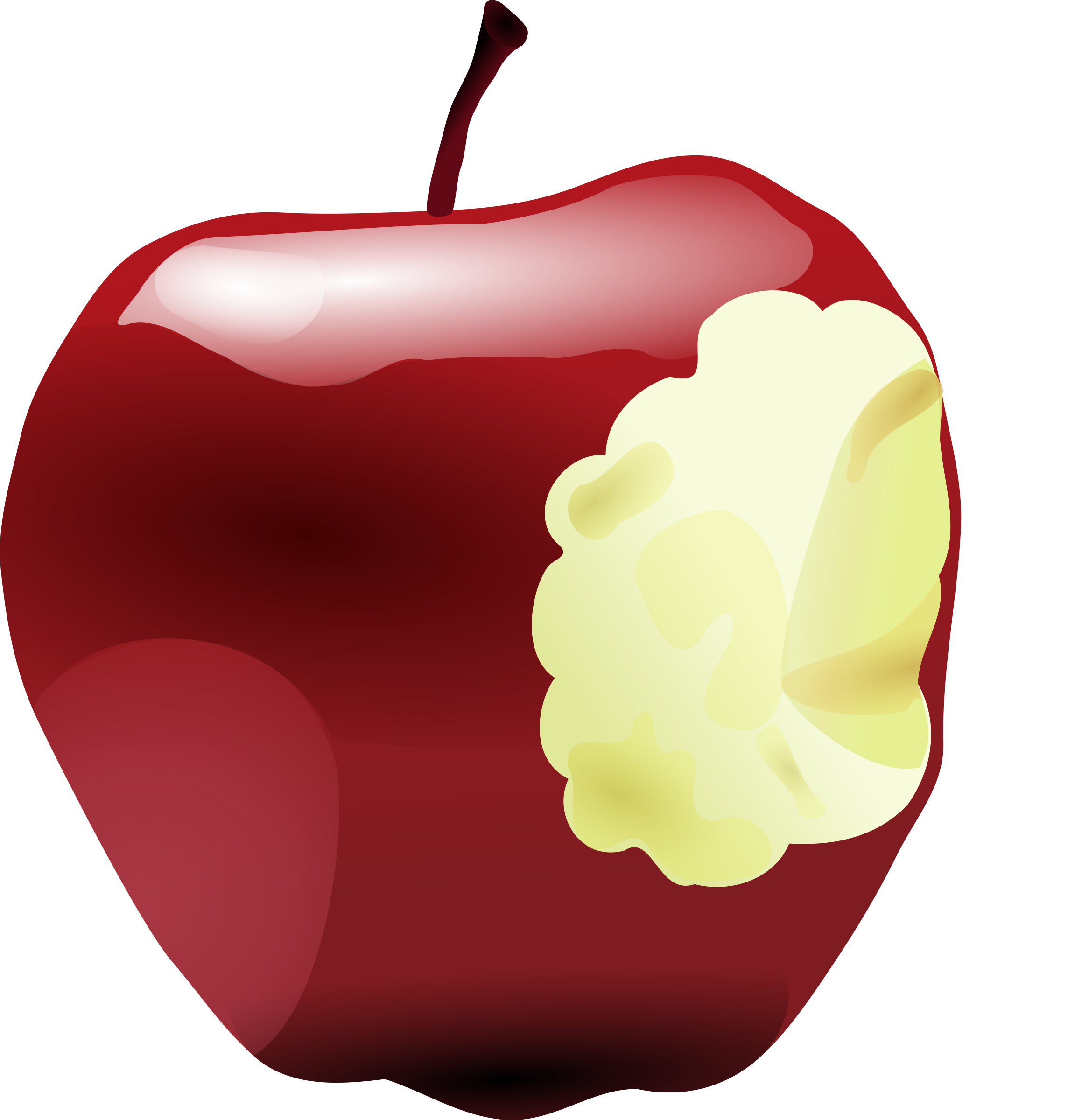 Apple with bite out of it clipart clip black and white stock Clipart - Apple with Bite clip black and white stock