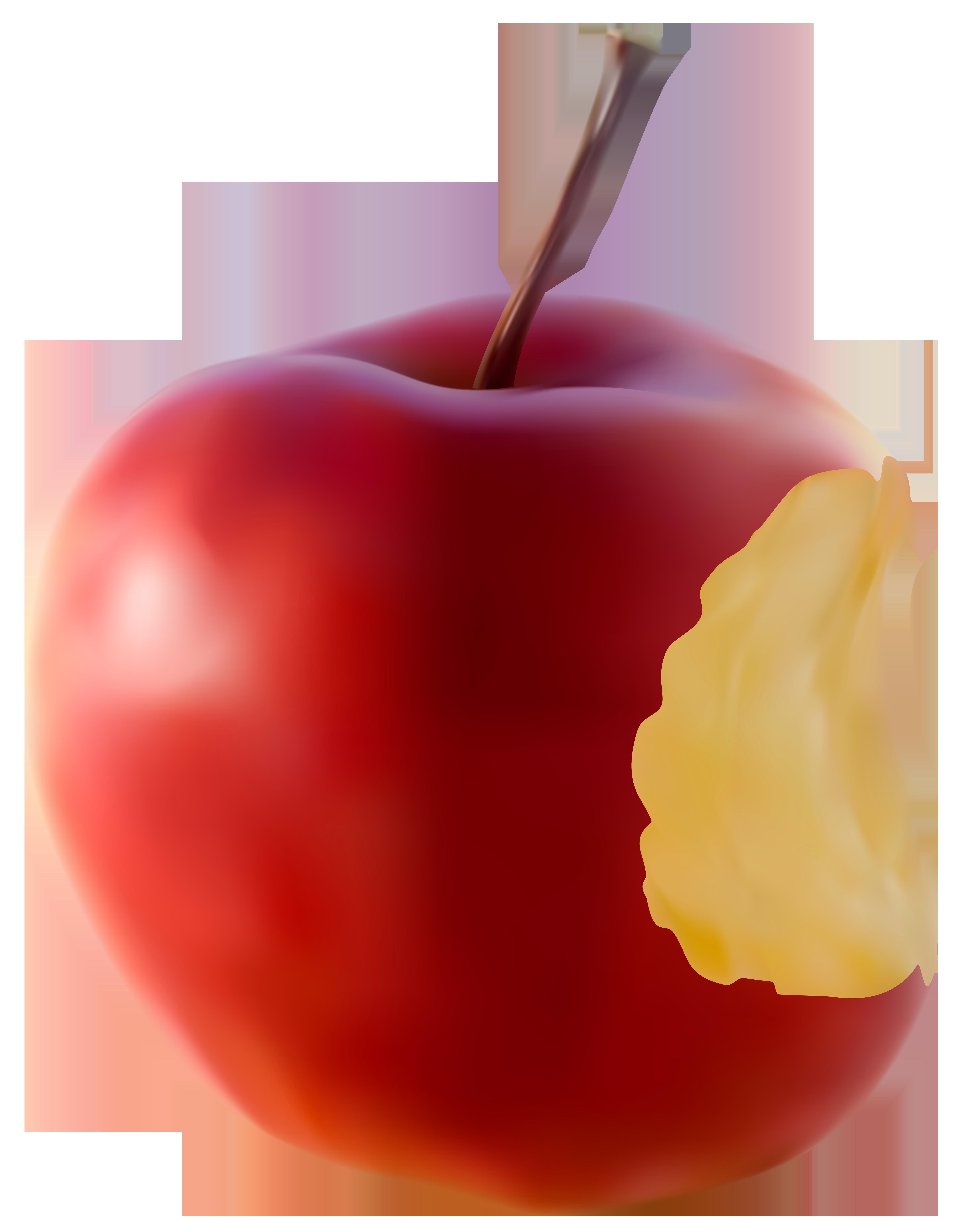 Apple bite clipart freeuse Bitten Apple Red Transparent Clip Art Image | Gallery Yopriceville ... freeuse