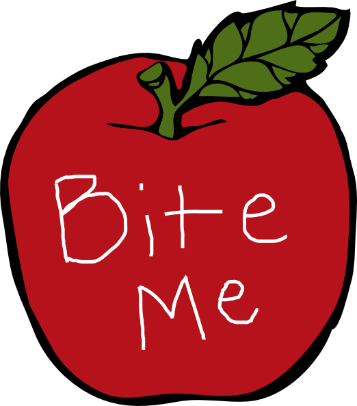 Apple with a bite clipart freeuse library Bite Me Apple Clip Art at Clker.com - vector clip art online ... freeuse library