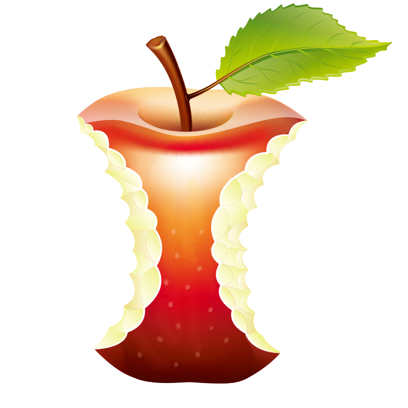 Bitten red apple clipart image transparent library Paper Waste Recycling Illustration - Bitten apple 800*800 transprent ... image transparent library