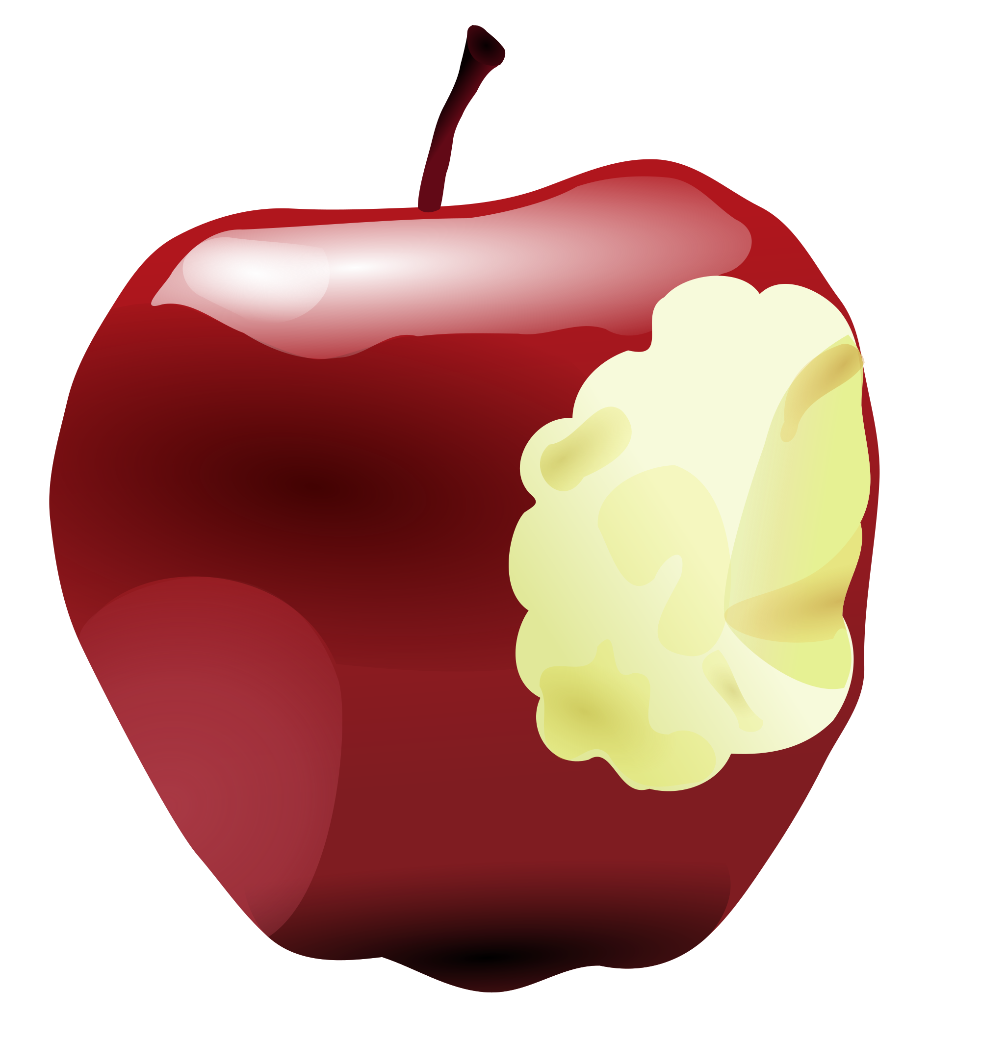 Apple in half clipart graphic black and white library File:Apple bitten.svg - Wikimedia Commons graphic black and white library