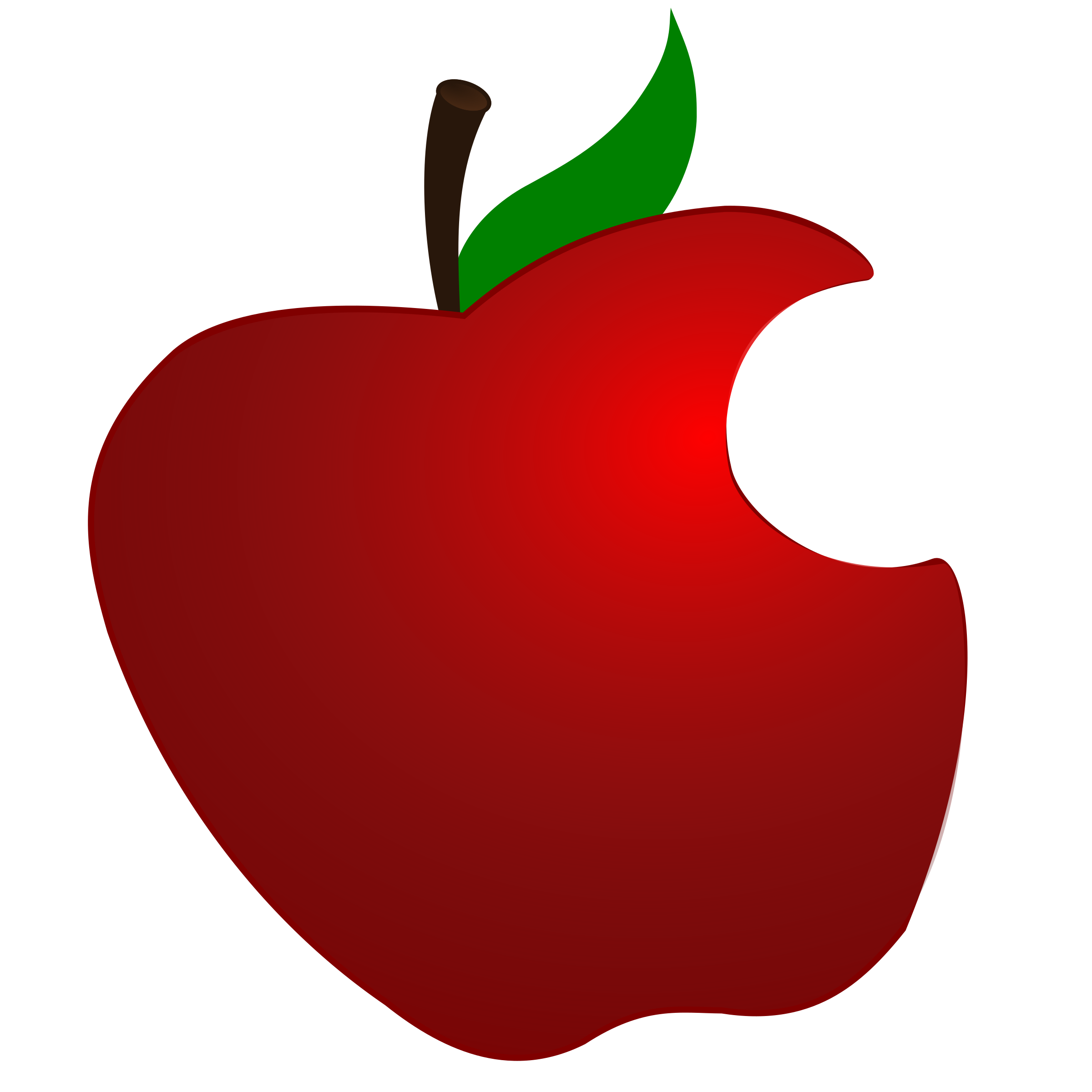 Apple stem and leaf clipart image transparent stock Clipart - Apple with Bite image transparent stock