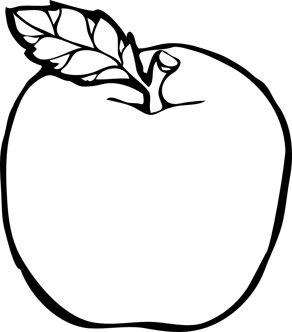 Apple leaf clipart black and white vector stock 28+ Collection of Apple Clipart Black And White Free | High quality ... vector stock