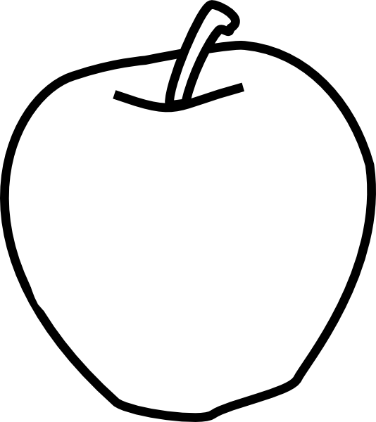 Black and white clipart apple vector freeuse Apple Black And White Clip Art at Clker.com - vector clip art online ... vector freeuse