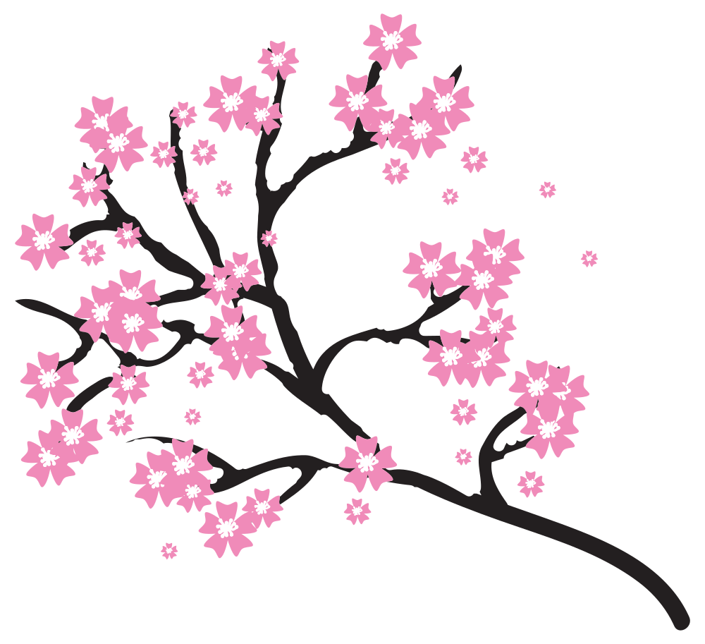 Cherry Blossom Clipart at GetDrawings.com | Free for personal use ... svg freeuse