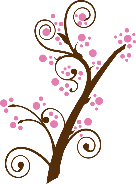 Apple blossoms clipart vector freeuse Free Image on Pixabay - Floral, Twig, Branch, Tree, Pink | Bujo, Diy ... vector freeuse