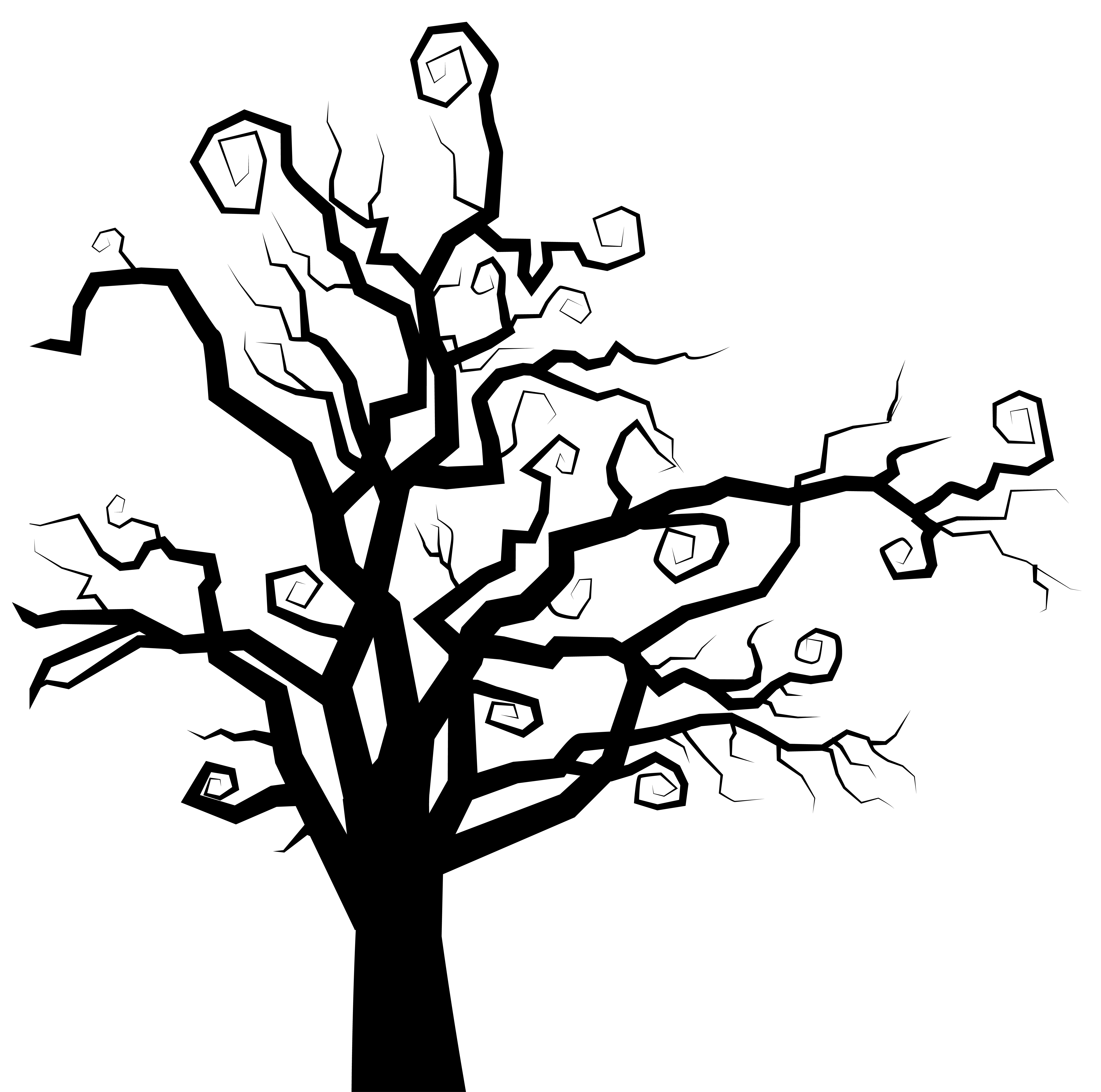 Tree roots clipart clip art black and white library Apple Tree Silhouette at GetDrawings.com | Free for personal use ... clip art black and white library