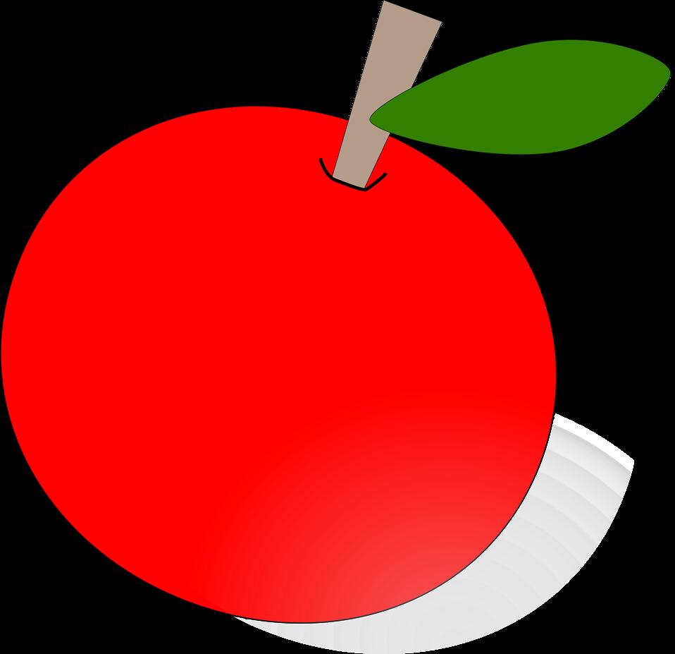 Apple border clipart landscape clip transparent download Apple | Free Stock Photo | Illustration of a red apple | # 11392 clip transparent download