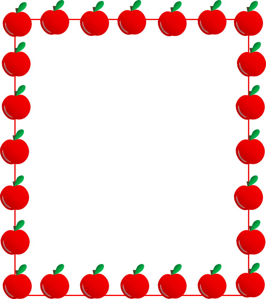Apple borders clipart picture freeuse 28+ Collection of Apple Frame Clipart | High quality, free cliparts ... picture freeuse