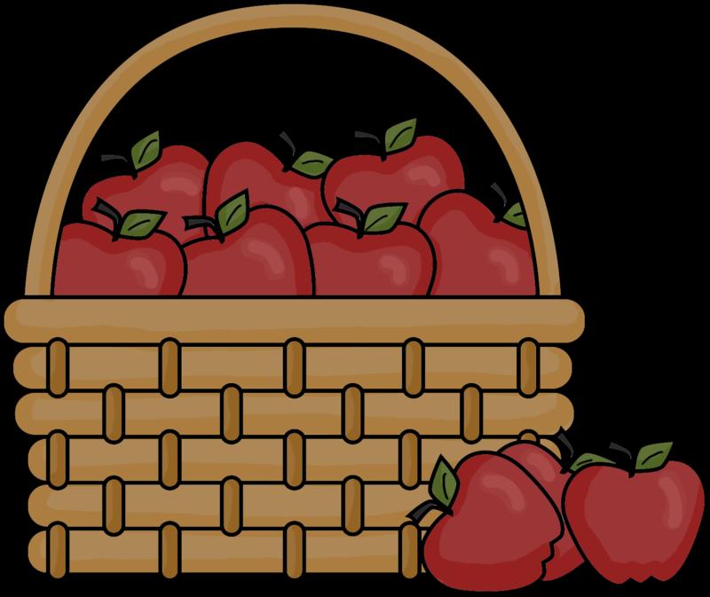 Apple bushel basket clipart