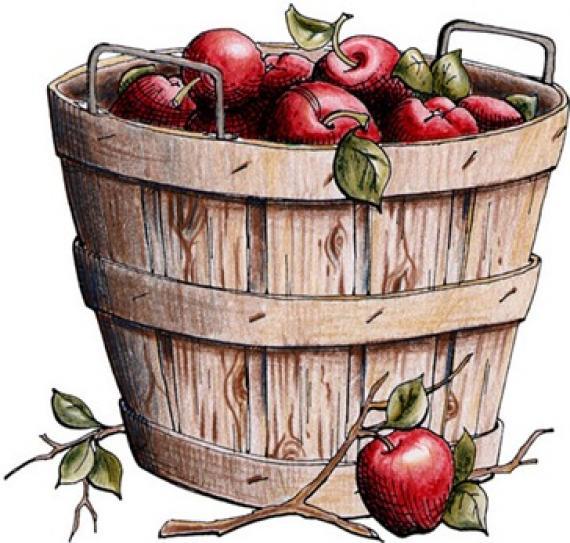 Apple bushel basket clipart vector royalty free download Best Apple Basket Clipart #21663 - Clipartion.com vector royalty free download