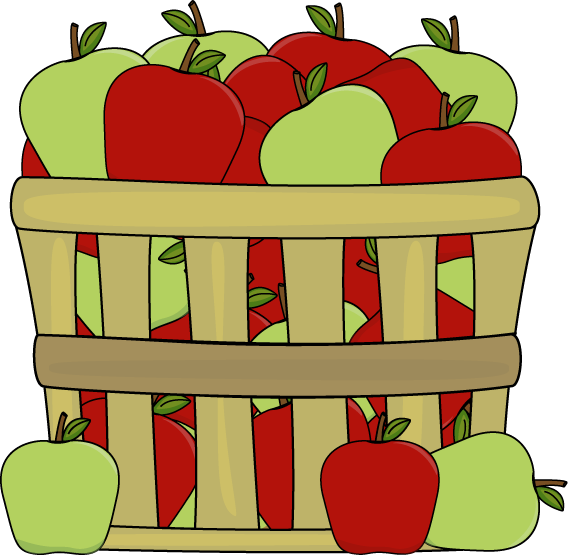 Apple bushel clipart